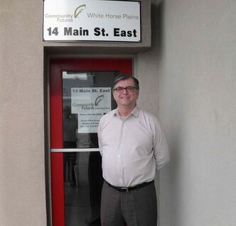 Community Futures White Horse Plains executive director Ken Keith stands outside the organization's new office in Elie.