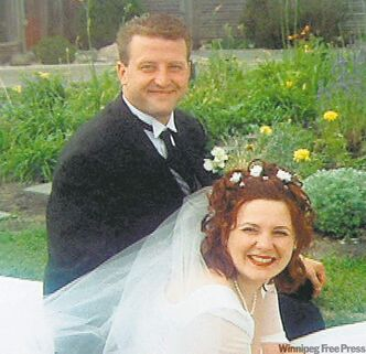 Joel and Magdalena Labossiere on their wedding day. The Winnipeg couple was shot to death in their home on April 20, 2008.