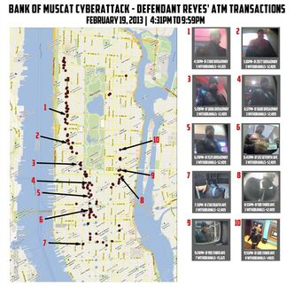 This undated graphic released by the U.S. Attorney's Office in New York City shows ten photos of a man identified as