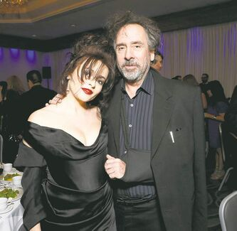 Helena Bonham Carter and Tim Burton attend the LA Film Critics Association Awards at the InterContinental Hotel on Saturday, Jan. 12, 2013, in Los Angeles. (Photo by Todd Williamson/Invision/AP)