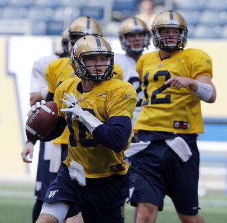 Robert Marve boasts the strongest arm of any quarterback on the Bombers, and he looks certain to be the team's No. 3 pivot. He also could be the go-to guy for mixing things up.