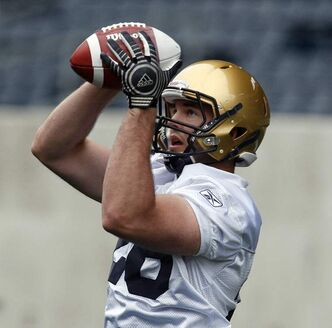 Carl Fitzgerald at Blue Bomber rookie training camp at Investors Group Field.