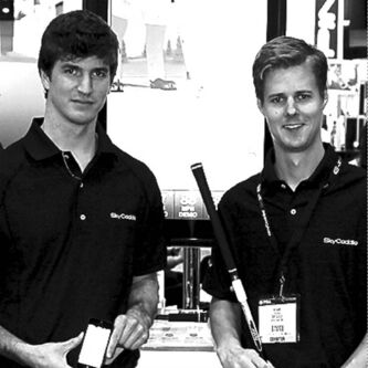 supplied photoMobile application developers Gord Parke (left) and Adam Tsouras. Their video was spotted by an employee of SkyGolf, maker of SkyCaddie.