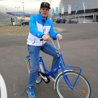 Winnipeg Jets' Olli Jokinen in Sochi for the Olympics.