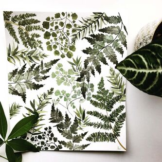 <p>The green, leafy textures in this watercolour by Kristen Aleida Wiltshire are a study in detail.</p>