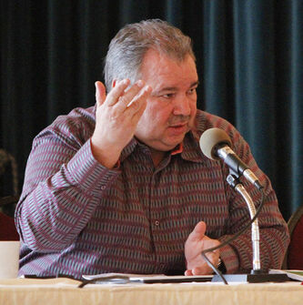 Manitoba Metis Federation president David Chartrand accused Manitoba Hydro of refusing to consult with Métis people over the construction of the Bipole III transmission line.