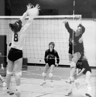 <p>SUPPLIED</p><p>Stephanson plays with the U of W Wesmen in a February 1986 game in Regina on the road to national finals. Stephanson had a career high of 19 kills that game en route to another national title.</p>