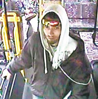 'We're at a point... where we've exhausted all efforts  in regards to the identity  of this individual' --Const. Jason Michalyshen,  of the suspect, seen in this Transit  surveillance video from September.