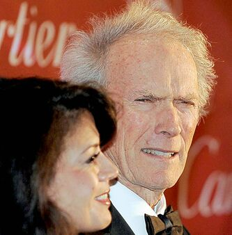 Clint Eastwood with wife Dina.