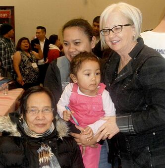 MP Joy Smith (Kildonan-St.Paul) meets constituents during a recent visit to the Philippine-Canadian Centre of Manitoba.