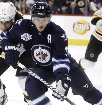 Toby Enstrom could return to the Jets' lineup as early as Sunday. He injured his shoulder during a game against Pittsburg in February.