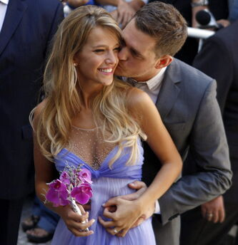 Michael Buble and wife, Argentine TV actress, Luisana Lopilato.