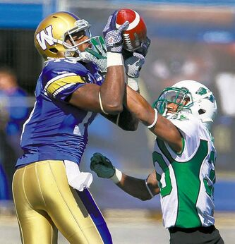 Winnipeg's Chris Matthews  shredded opposing defences for 81 catches and 1,192 yards during the 2012 season.