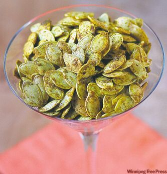 Spice roasted pumpkin seeds