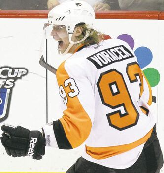 Flyers' Jakub Voracek provides a young offensive threat.