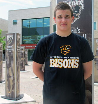 Nick Stewner, 18, recent graduate from Fort Richmond Colligate, will be heading to University of Manitoba to play for the Bisons mens volleyball team.