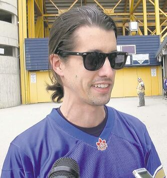 Dale Thompson is OK with being back at Canad Inns Stadium Wednesday.