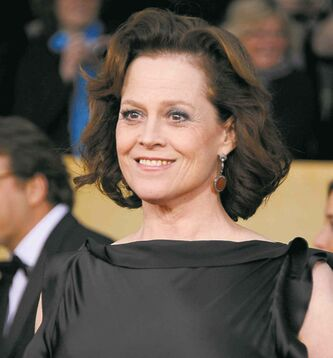 Actress Sigourney Weaver arrives at the 19th Annual Screen Actors Guild Awards at the Shrine Auditorium in Los Angeles on Sunday, Jan. 27, 2013. (Photo by Jordan Strauss/Invision/AP)