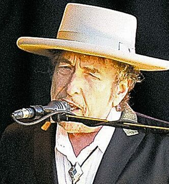 US singer songwriter Bob Dylan performs on stage at