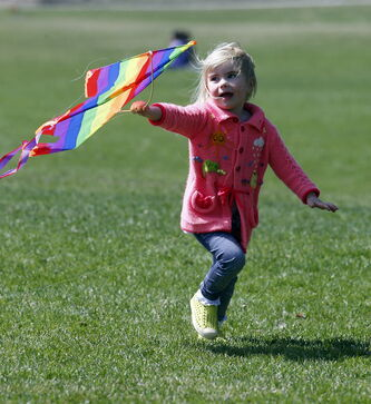 Today will be a great day to go outside and have fun like Libby Little; the rest of the weekend, not so much.