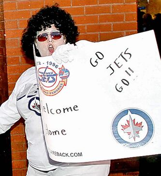 A Jets fan echoes the sentiment of many attending the Winnipeg game.