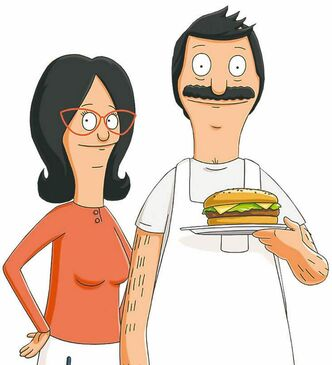 In this TV publicity image released by Fox, Linda Belcher, left, voiced by John Roberts, and Bob Belcher, voiced by H. Jon Benjamin are shown in a scene from the animated series,