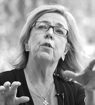 Green Leader Elizabeth May: in Brandon today