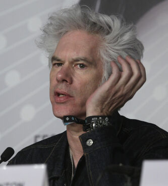 Director Jim Jarmusch speaks during a press conference for the film Only Lovers Left Alive at the 66th international film festival, in Cannes, southern France, Saturday, May 25, 2013.