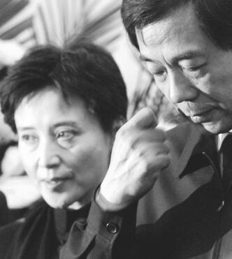 Gu Kailai (left) and disgraced husband Bo Xilai.