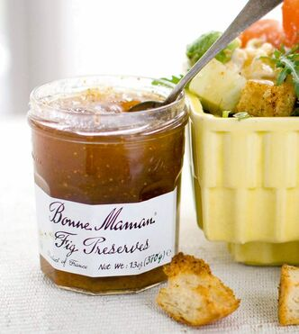 Fig preserves add a Mediterranean taste.
