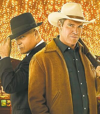 Michael Chiklis (left) stars as Vincent Savino and Dennis Quaid (right) stars as Ralph Lamb.