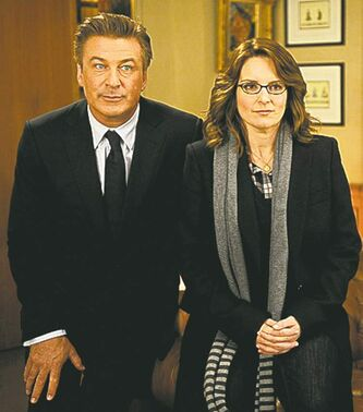 Alec Baldwin and Tina Fey in 30 Rock.