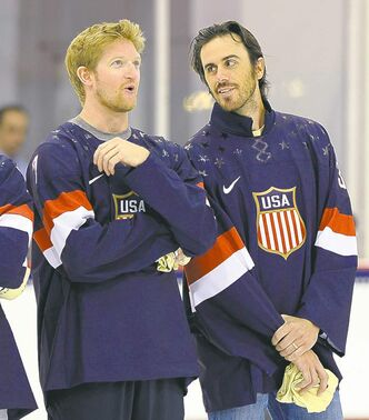 Buffalo Sabres goalie Ryan Miller (right) was brilliant in Vancouver in 2010.