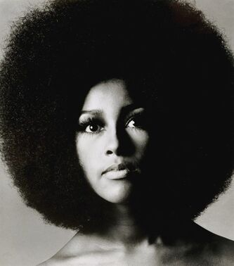 This 1969 portrait made available by Sotheby's Saturday Nov. 10, 2012 shows American-born singer Marsha Hunt. Handwritten letters from Rolling Stones frontman Mick Jagger to his former lover Marsha Hunt will be auctioned in London next month. Hunt is an American-born singer who was the inspiration for the Stones' 1971 hit