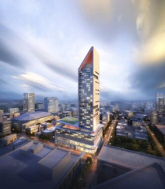 Artist's rendering of proposed skyscraper.