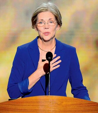Elizabeth Warren, a candidate for U.S. Senate in Massachussetts, speaks on the second night at the 2012 Democratic National Convention at Time Warner Cable Arena, Wednesday, September 5, 2012 in Charlotte, North Carolina. (Harry E. Walker/MCT)
