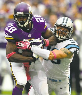 Adrian Peterson rushed to a Sioux Falls, S.D., hospital on     Thursday to see his young son.