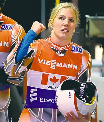 Canada's Alex Gough has had success  at World Cup events.
