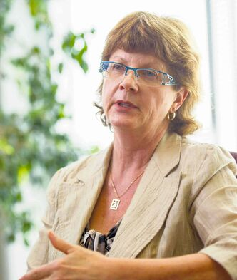 Arlene Wilgosh, CEO of the Winnipeg Regional Health Authority, called its progress toward emergency room targets 'flat.'