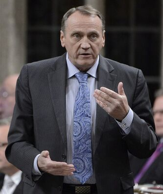 Aboriginal Affairs Minister John Duncan rises during Question Period in the House of Commons on Parliament Hill in Ottawa, Monday Feb.11, 2013 . THE CANADIAN PRESS/Adrian Wyld