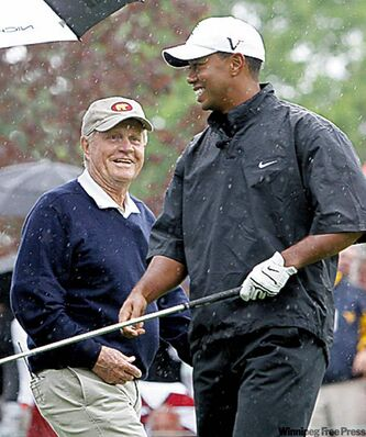 Nicklaus: Woods'  best chances to gain ground are the British and U.S. Opens.