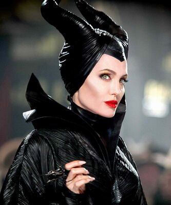 Angelina Jolie in the title role of Maleficent, the villain from the 1959 classic Sleeping Beauty.