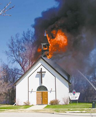 A man has been fined in connection to the fire that burnt Starbuck's United Church.