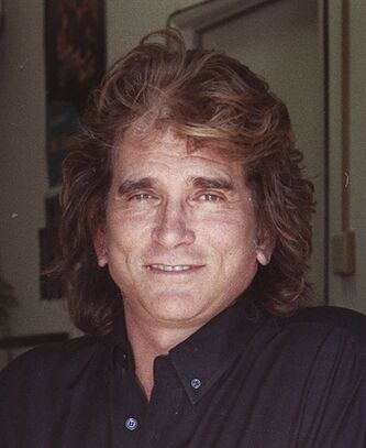 FILE - Actor Michael Landon is shown in a 1990 file photo. Officials in Collingswood, N.J., the hometown of late actor Michael Landon, have taken down a plaque remembering the star of