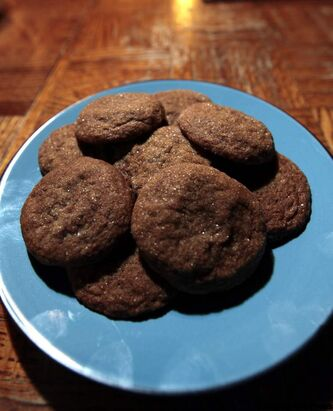 Ginger spice cookies submitted by Karen Makowski of Pilot Mound.