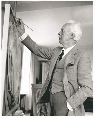 Lawren Harris at his easel. The artist's life is examined in a long-overdue biography.