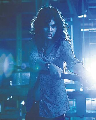 "Alexandra Daddario stars as 'Heather Miller' in ""Texas Chainsaw 3D."" (Justin Lubin/Courtesy Lionsgate/MCT)"