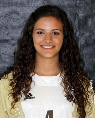 Daniella Scerbo, soccer forward, named the female athlete of the week.