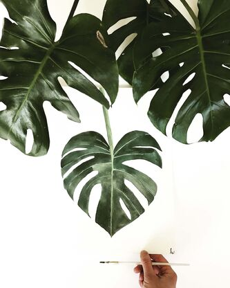 <p>The iconic image of tropical Monstera deliciosa (aka Swiss-cheese plant) can be found on everything from wallpaper to toss cushions and gallery walls.</p>