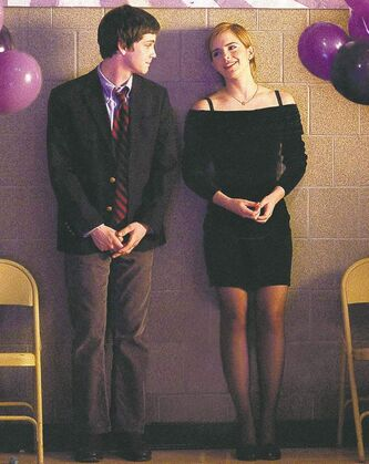 Logan  Lerman, left, and Emma Watson star in adaptation of a popular young-adult novel.